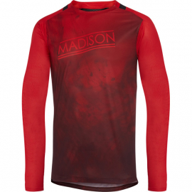 Flux Enduro men's long sleeve jersey  marble true red / classy burgundy XX-large